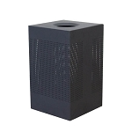 Celestial Square 40-Gallon Matte Black Square Waste Can