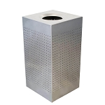 Celestial Stainless Steel Square Receptacle
