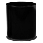 Small Round Black Executive Wastebasket