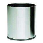 Small Round Stainless Steel Executive Wastebasket