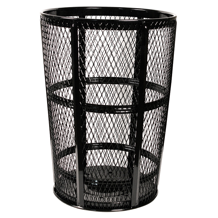 Wire Waste Basket | Wire Mesh Trash Can Metal Outdoor Waste Receptacles Trash Cans