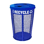Expanded Metal Recycling Receptacle