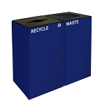 GeoCube Two-Stream Recycling and Waste Station - Blue