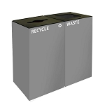 GeoCube Two-Stream Recycling and Waste Station - Slate