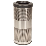 10-Gallon Perforated Waste Receptacle in Stainless Steel
