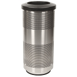 20 Gallon Perforated Waste Receptacle in Stainless Steel