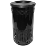 35-Gallon Perforated Waste Receptacle with Flat Top