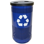 35-Gallon Perforated Recycling Receptacle