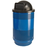 55-Gallon Perforated Waste Receptacle with Dome Top