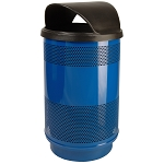 55-Gallon Perforated Waste Receptacle with Hood Top