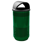35-Gallon Perforated Waste Receptacle with Hood Top