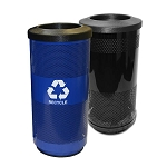 Stadium 20 Gallon Perforated Waste and Recycling Station