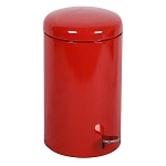 Industrial Step On Receptacle in Red - 7 Gallon