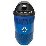 35 Gallon Perforated Recycling Container with Hood Top