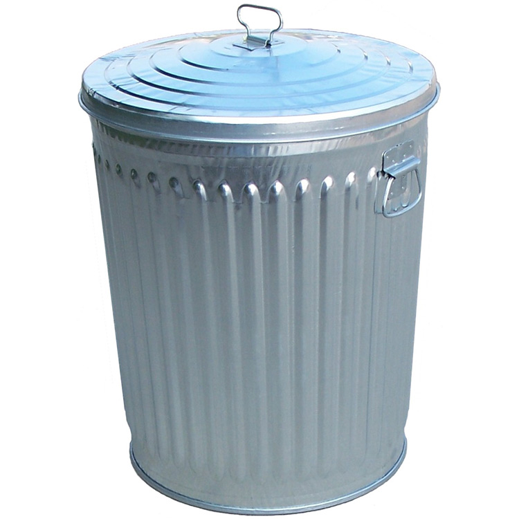 Aluminium Garbage Cans : Gallon galvanized steel trash can w lid cans