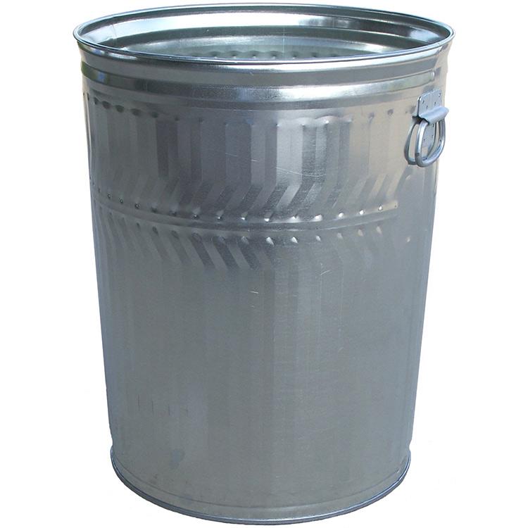 32 Gallon Trash Can Galvanized Steel