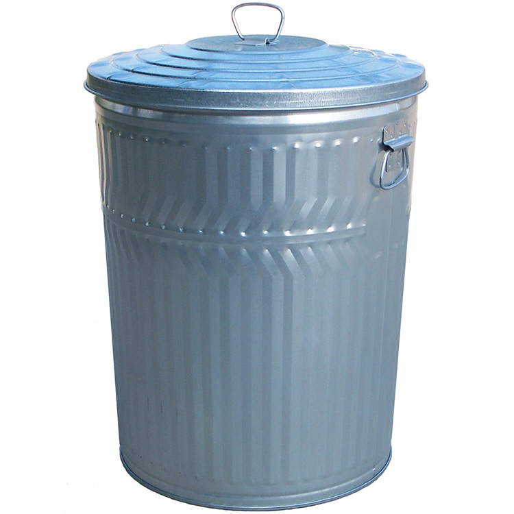 32 Gallon Trash Can Galvanized Steel Trash Can