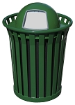 Wydman 36-Gallon Slatted Trash Receptacle