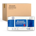 Alcosm 75% Alcohol Sanitizing Wipes - 24 packs/case