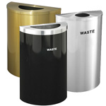 Glaro Half-Round Waste and Recycling Receptacles