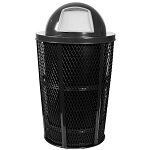 Outdoor Expanded Metal Waste in BLACK | Dome Top | Liner included