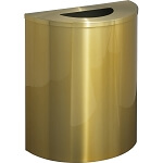 Glaro XL Half-Round Satin Brass Waste Barrel