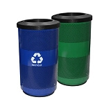 Stadium 35 Gallon Perforated Waste and Recycling Station