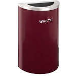 Glaro Designer Colors 14-Gallon Half-Round Waste Container