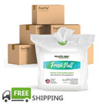 FreshPull 70% Alcohol Sanitizing Wipes 6-Case Bulk Bundle