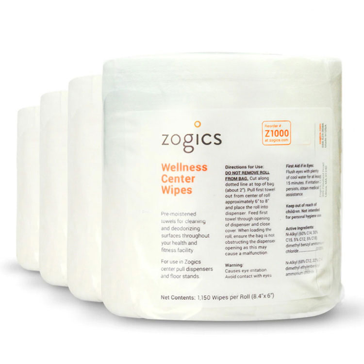 Wellness Center Wipes (4-Rolls per case)