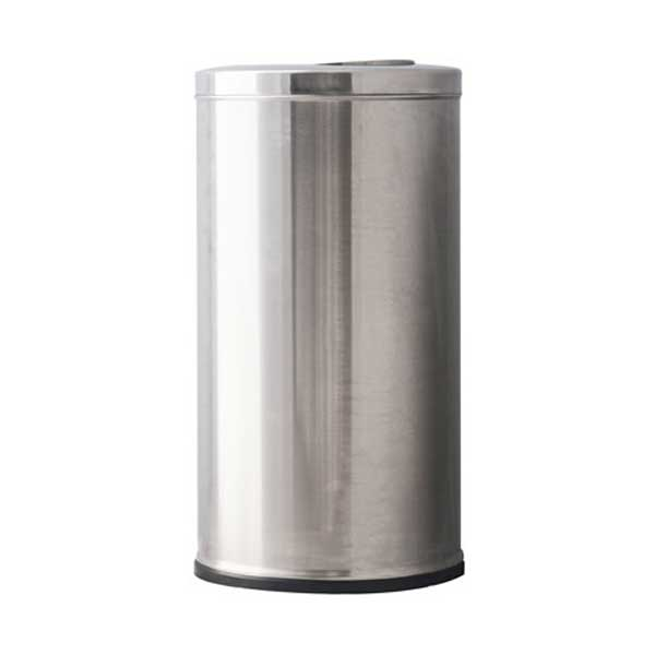 flip top stainless steel trash can