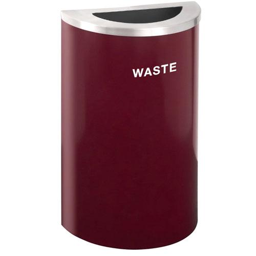 Glaro Half Round Trash Container Designer Colors 14