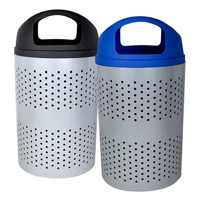 The Portland Trash & Recycling Bin Combo with Dome