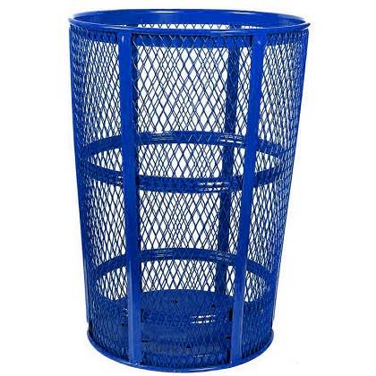 Outdoor Expanded Metal Waste | BLUE