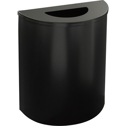 Glaro XL 1/2-Round Waste Container in Designer Colors