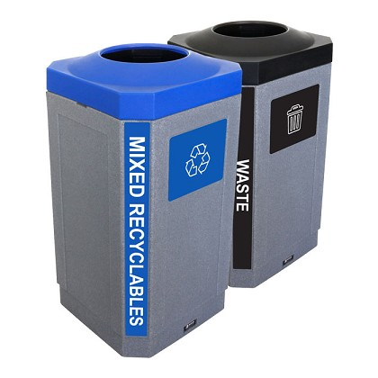 The Octo Indoor 2-Stream Recycling & Waste Combo