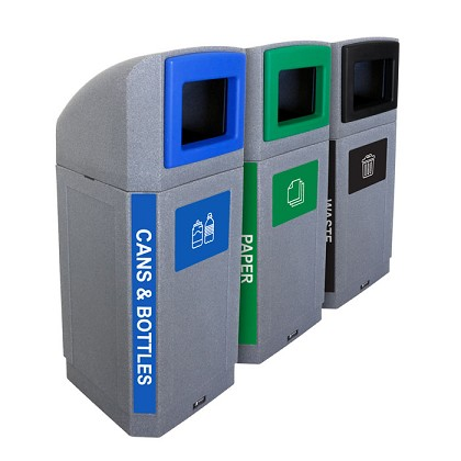 The Octo Outdoor 3-Stream Recycling Station