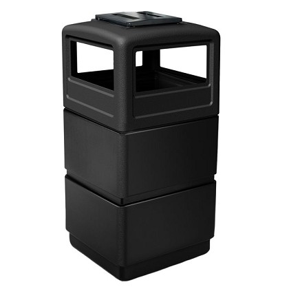 38-Gallon Three-Tier Waste Container with Ashtray Dome Lid