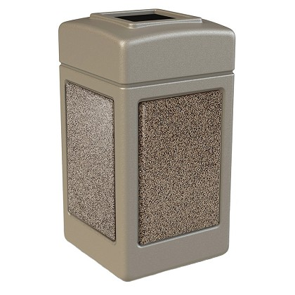 StoneTec 42 Gallon Square Waste Container