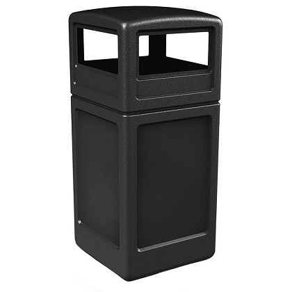 PolyTec 42 Gallon Square Waste Container with Dome Lid