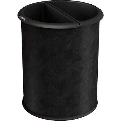 InnRoom Waste and Recycling Bin, Classic Smooth in Black