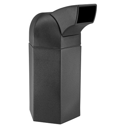 Hex 50 Gallon Trash Container w/ Drive-Thru Lid