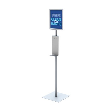 Hand Sanitizer Dispenser Stand with Sign Frame