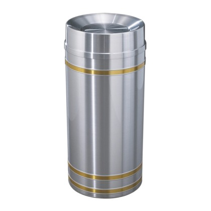 Capri Waste Receptacle with Tip-Action Top