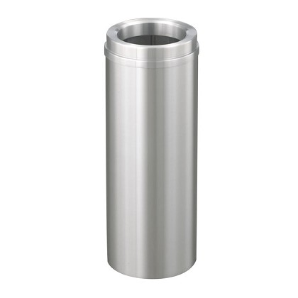 New Yorker Satin Aluminum 6 Gallon Waste Receptacle w/Funnel Top
