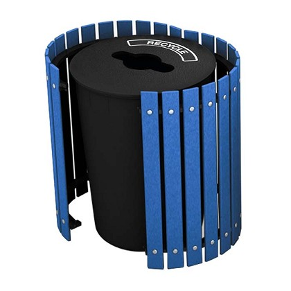 Recycling and Waste Barrel with Hinged Door