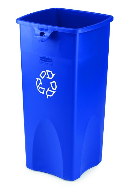 23-Gallon Untouchable Square Recycling Container