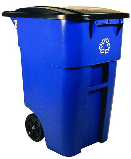 50-Gallon BRUTE Recycling Rollout Container Blue