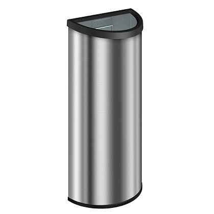 Indoor Crescent Trash Can with Black Rim - 8 Gallon