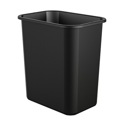 7 Gallon Desk-side Plastic Resin Waste Bin (12 Pack)
